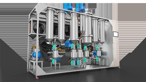 Sebatech Gül Yağı ve Aromatik Bitki Yağları Makineleri Moleküler Thin Film Distilasyon