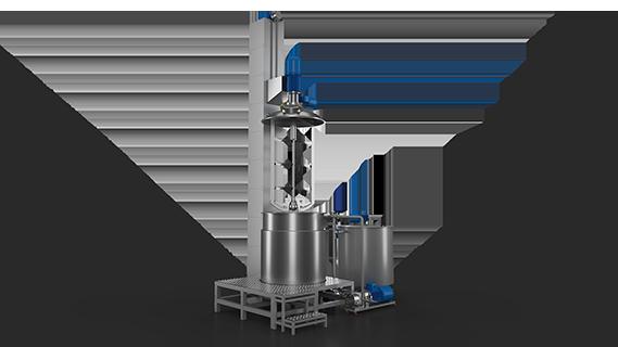 Sebatech Gül Yağı ve Aromatik Bitki Yağları Makineleri Homojenizatörlü Vidalı milli Asansörlü Mikser